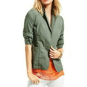 Cabi Blazer Olive Jacket One Button Workwear Lined